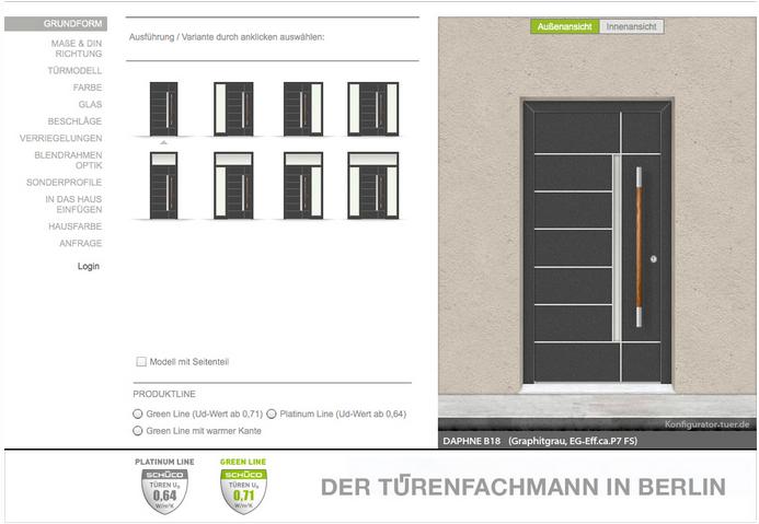 haust r konfigurator der t renfachmann in berlin. Black Bedroom Furniture Sets. Home Design Ideas