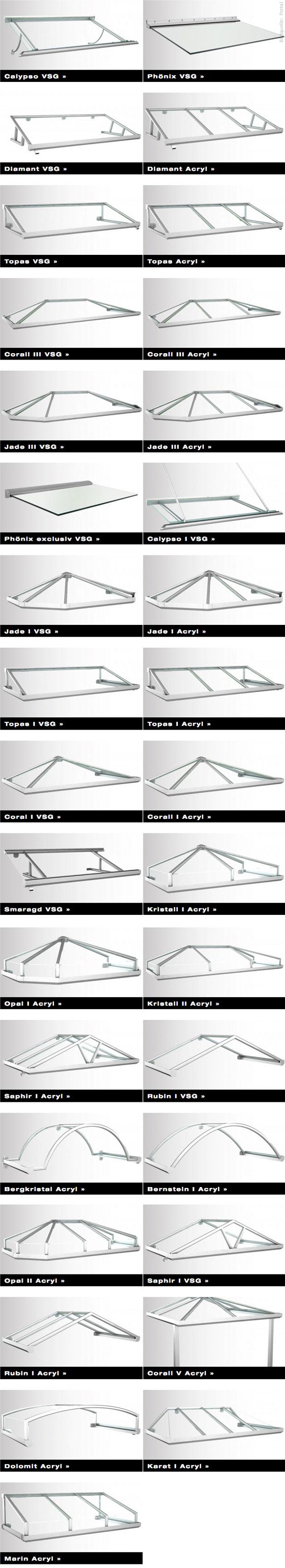 Aluminiumvordächer